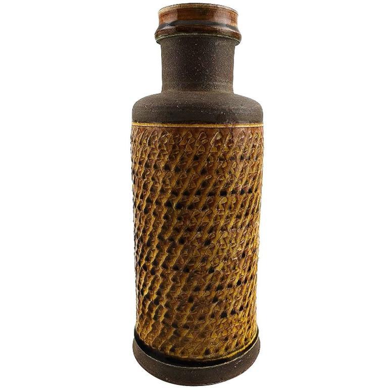 Kähler, Denmark, Glazed Stoneware Vase by Nils Kähler, 1960s