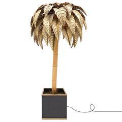 Bamboo Palm Tree Floor Lamp
