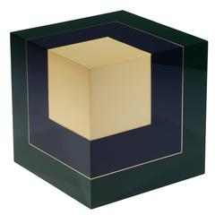 "Side table ""Homage to the cube"" by Hervé Langlais for Galerie Negropontes"