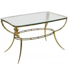 Italian Brass Coffee Table, circa 1960