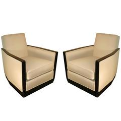 Rene Joubert & Philippe Petit, Pair of Art Deco Armchairs Edited by D.I.M.