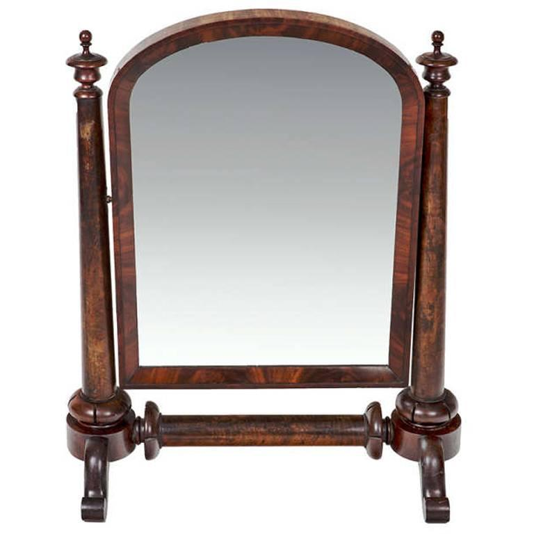 William IV Mahogany Crutch Mirror 1