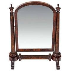 William IV Mahogany Crutch Mirror