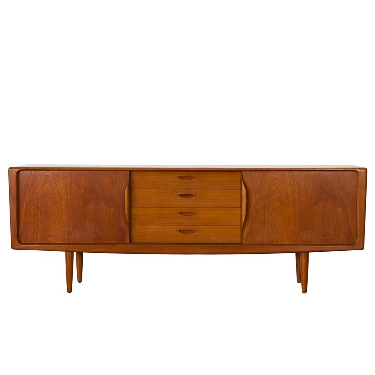 danish teak sideboard by h w klein bramin denmark at. Black Bedroom Furniture Sets. Home Design Ideas