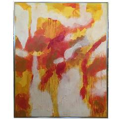 Original Oil On Canvas Abstract Painting Signed-Lee Reynolds