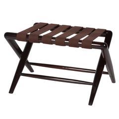 Folding Mahogany Bench by Robsjohn-Gibbings, American, 1950s