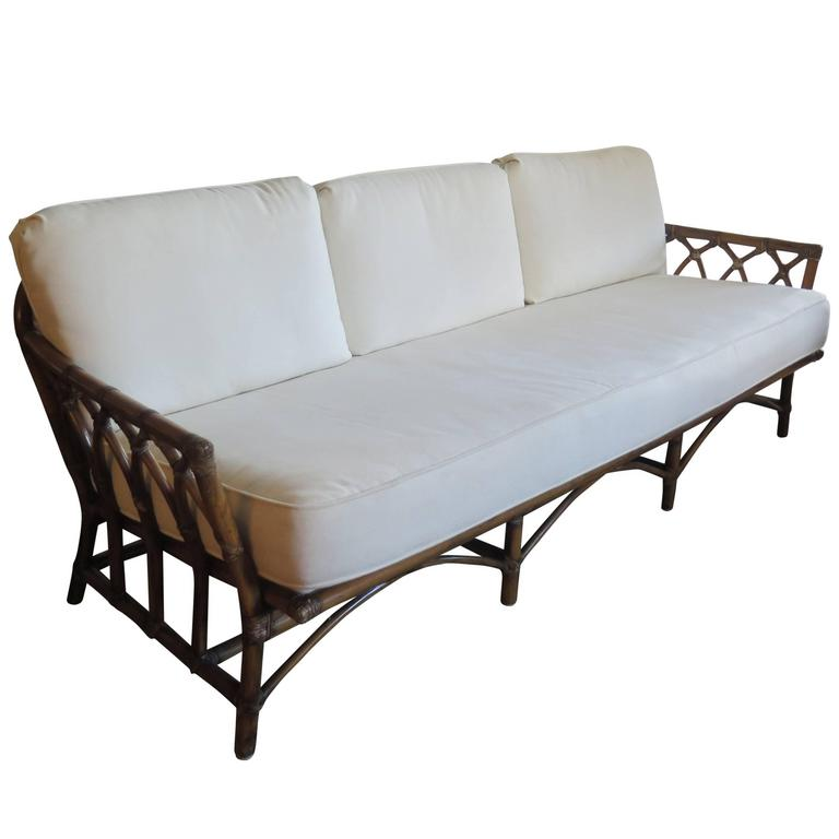 mcguire bamboo sofa for sale at 1stdibs. Black Bedroom Furniture Sets. Home Design Ideas