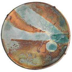 Madoura, Very Large Ceramic Platter Attributed to Suzanne Ramie, Vallauris