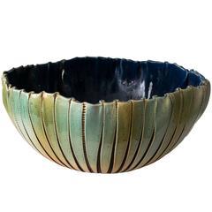 Large Scandinavian Modern Hand Built and Glazed Bowl by Artist Bent Berglund