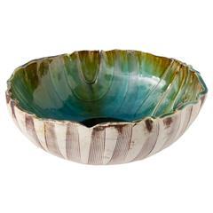 Unique Scandinavian Modern Glazed Bowl by Artist Bengt Berglund