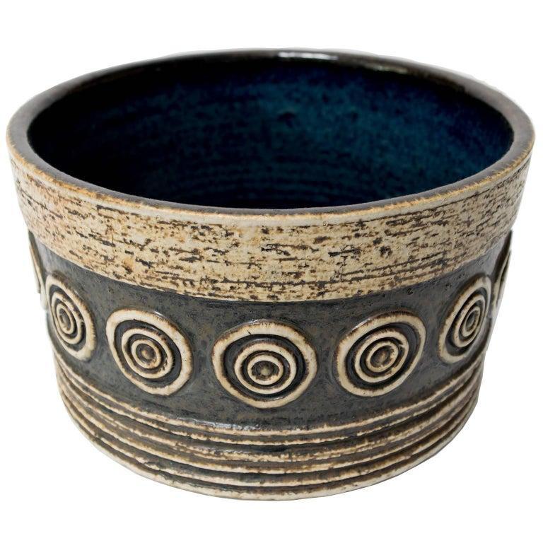 Scandinavian Modern Studio Bowl by Britt-Louise Sundell for Gustavsberg For Sale