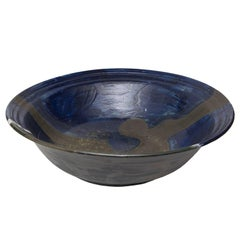 Scandinavian Modern Monumental Studio Ceramic Bowl by Carl Cunningham-Cole