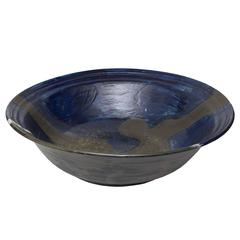 Scandinavian Modern Monumental Studio Ceramic Bowl by Carl Cunningham-Cole