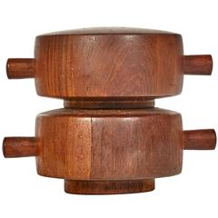 Dansk Denmark Teak Salt and Pepper Mill by Jens Quistgaard