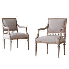 Pair of 18th Century Gustavian Armchairs