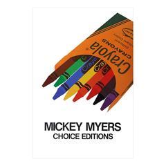 1970s Pop Art Crayola Poster Mickey Myers