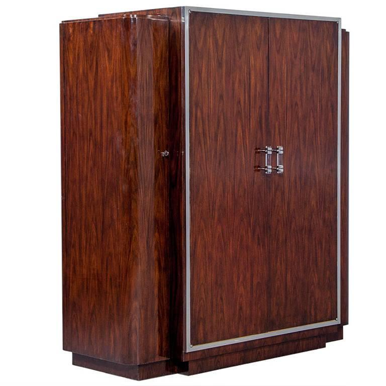 art deco styled duke mahogany wardrobe art deco figured walnut wardrobe vintage