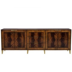 Carrocel Custom Bookmatched Flamed Mahogany Buffet
