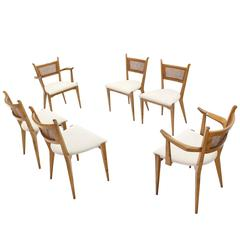 Set of Six Mid-Century Swedish Modern Dining Chairs by Edmund Spence