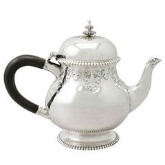 Sterling Silver Teapot, Antique George V