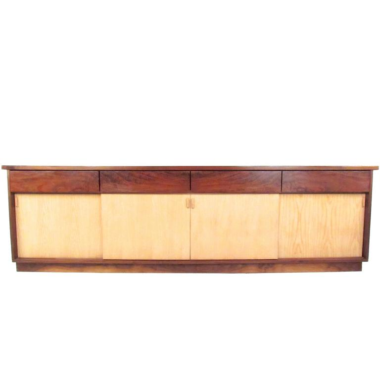 Vintage Rosewood Office Credenza For Sale