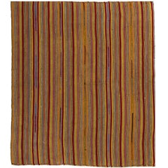 Striped Vintage Kilim, Flat-weave Rug