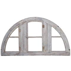 Antique French Demilune Window Frame