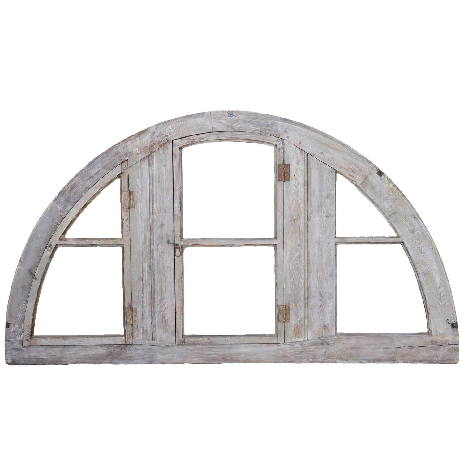 Antique French Demilune Window Frame at 1stdibs