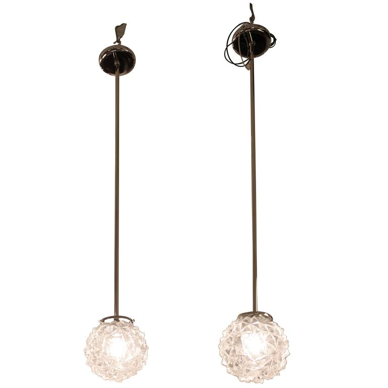 Mid century modern onion shape pendant lights for sale at 1stdibs 1950s mid century modern pendant lights with porcupine ball glass aloadofball Gallery