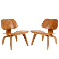 Two LCW Lounge Chairs by Charles Eames