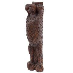 Antique Carved Wood Eagle Fragment