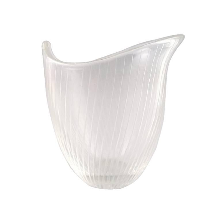 Clear Glass Vase, Tapio Wirkkala for Iittala, Finland, circa 1960