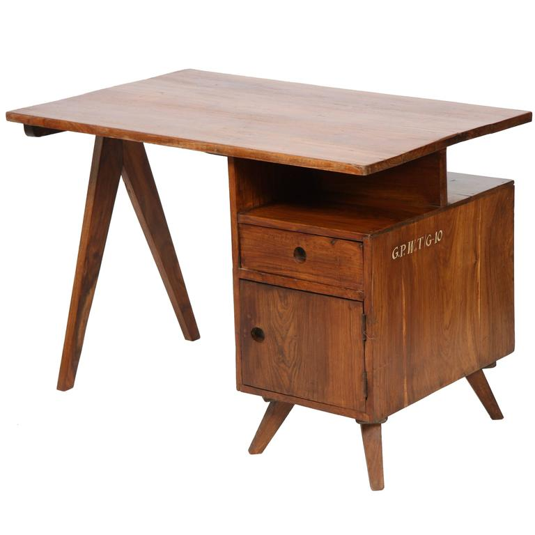 Pierre Jeanneret Administrative Desk For Sale