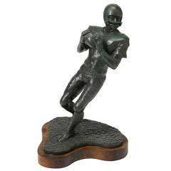 """Quarterback"" American Football Bronze by L. Lumetta"