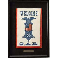 Grand Army of the Republic Civil War Reunion Banner, circa 1870-1900