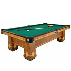 Brunswick Medalist 1940's Pool Table Arts and Crafts Style