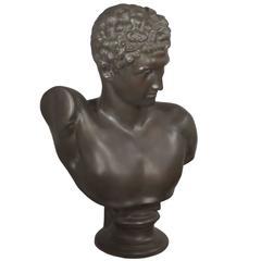 Classic Bust of Hermes in Fiberglass