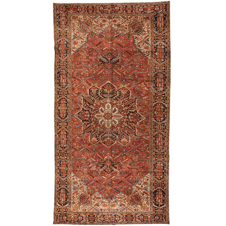 Antique Oversize Persian Heriz Carpet