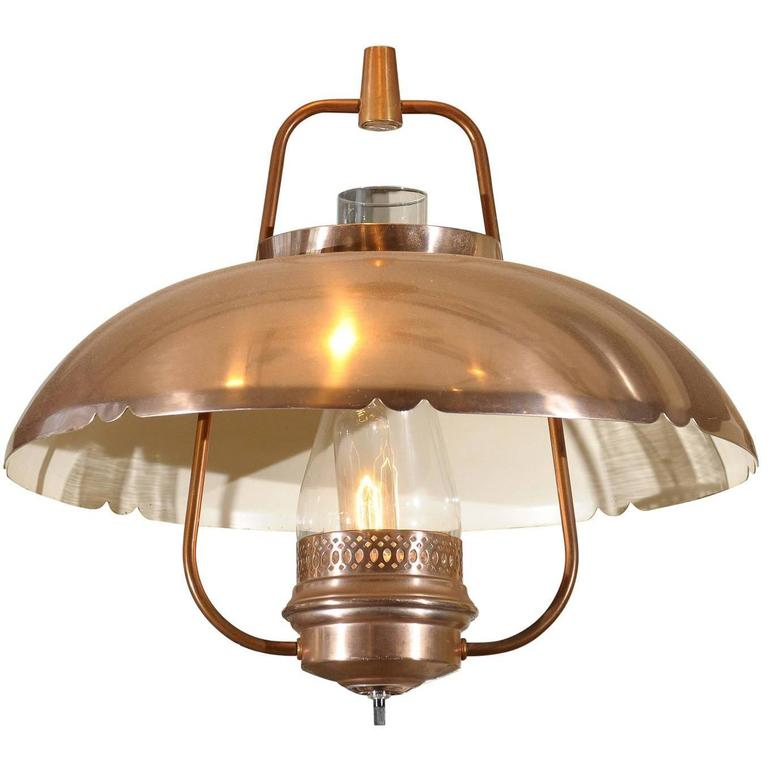 Mid Century Copper Lantern At 1stdibs