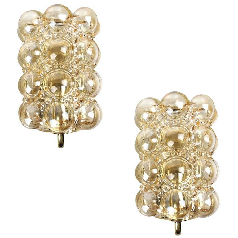 Champagne Bubble Glass Sconces by Helena Tynell