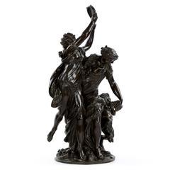 """Bacchanalia"" Bronze Sculpture Group After Claude Michel Clodion, circa 1860"