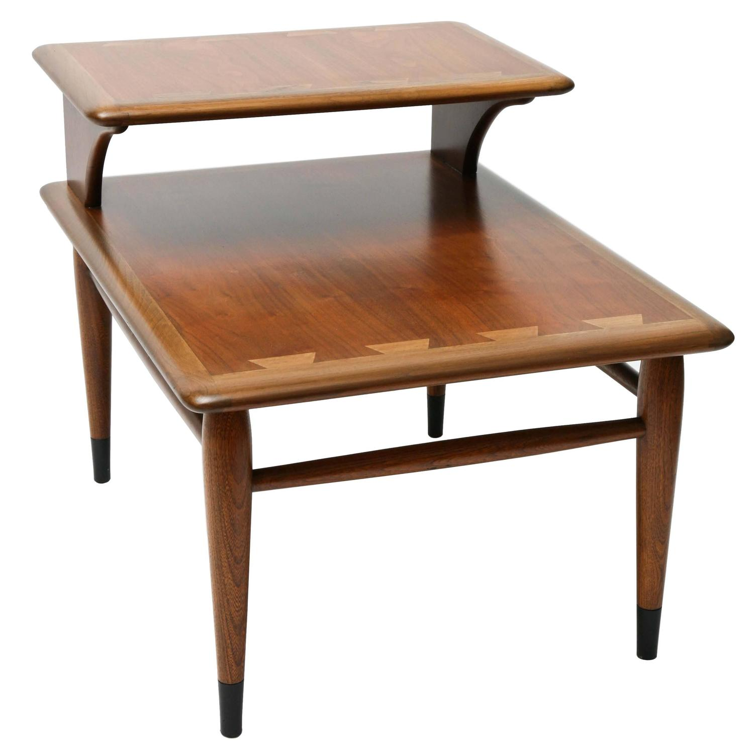 Lane Acclaim Series Coffee Table: Two-Tiered Lane Acclaim Series End Tables, 1960s, USA For