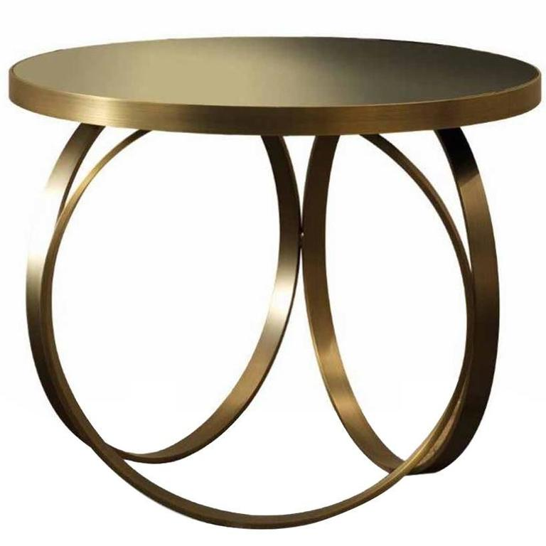 Italian modern ottoline brass lacquer side or small dining for Small modern side table