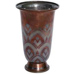 Luc Lanel Christofle Vase, 1930s
