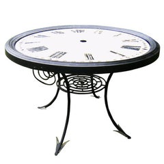 19th Century French Enameled Clock Face Table