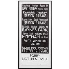 Vintage London Bus Sign