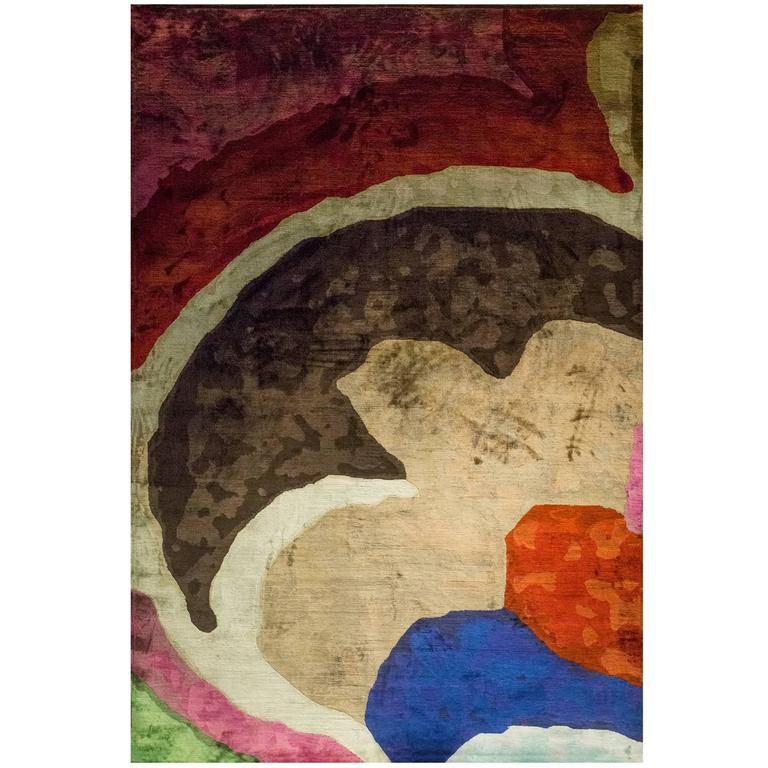 Vladimir Kagan Silk Rug by Sabine de Gunzburg / Artist's Rugs Editions (Ed. 6)