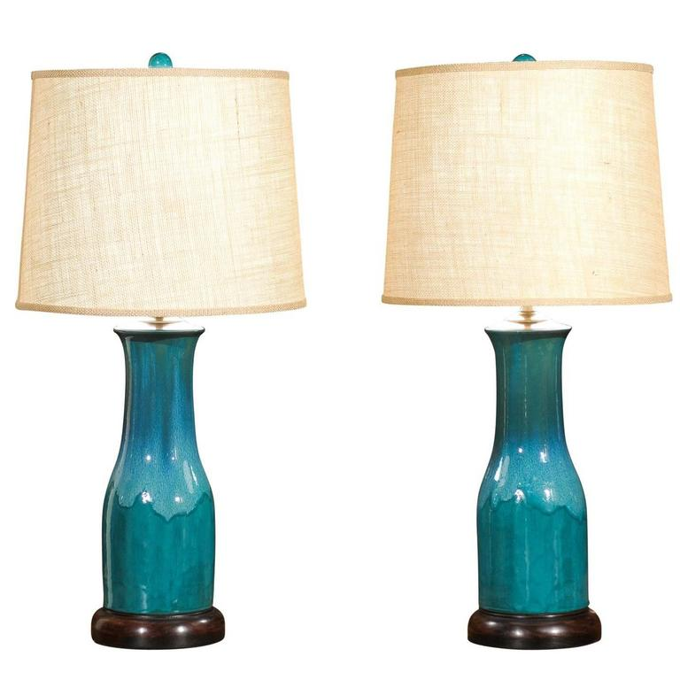 product width blue modern pottery chinese and of white aspect a fit lamp chairish pair lamps height image