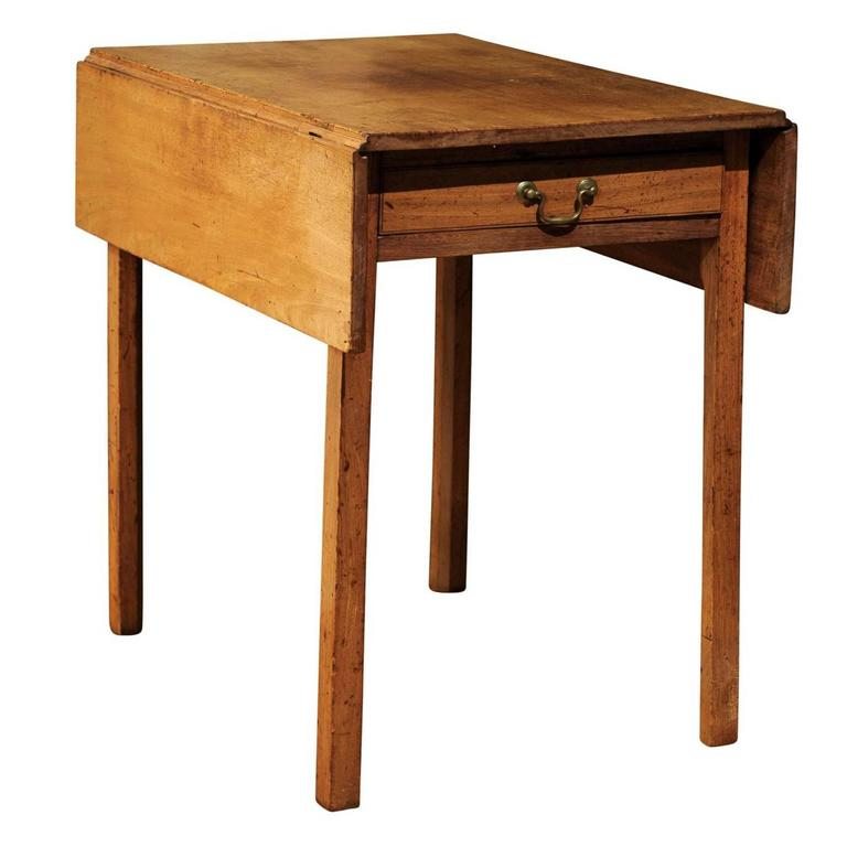 Drop Leaf Mahogany Side Table For Sale At 1stdibs