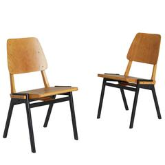 Danish Industrial Stacking Chairs, Pair, circa 1950s - ON SALE